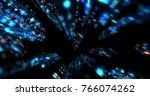 3d futuristic abstract... | Shutterstock . vector #766074262