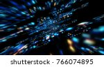 3d futuristic abstract...   Shutterstock . vector #766074895