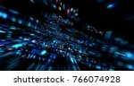 3d futuristic abstract... | Shutterstock . vector #766074928