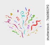 colorful confetti isolated.... | Shutterstock .eps vector #766080292