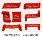 christmas banners isolated. set ...