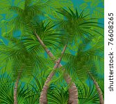 background with tropical plants | Shutterstock .eps vector #76608265