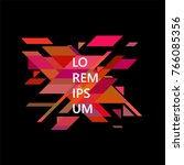 minimalist design  creative... | Shutterstock .eps vector #766085356