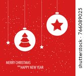 beautiful decorative christmas... | Shutterstock .eps vector #766089025