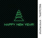 happy new year green modern... | Shutterstock .eps vector #766092586