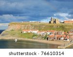 Whitby Abbey On West Cliff In...