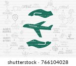 insurance concept  painted... | Shutterstock . vector #766104028