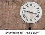 Old Clock Tower In Siena...