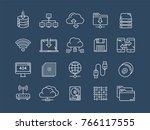 cloud omputing. internet... | Shutterstock .eps vector #766117555
