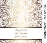 intricate baroque luxury... | Shutterstock .eps vector #766124056