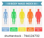 index mass body. rating chart... | Shutterstock .eps vector #766126732