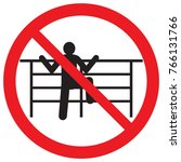 """sign """"to climb over the fence...   Shutterstock .eps vector #766131766"""