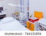 cosmetic couch  equipment and... | Shutterstock . vector #766131856