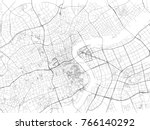 shanghai street  city map ... | Shutterstock .eps vector #766140292