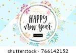 elegant and fun winter... | Shutterstock .eps vector #766142152