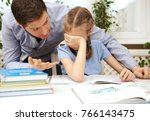 dad is angry because his... | Shutterstock . vector #766143475