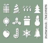 set of christmas icons | Shutterstock .eps vector #766144696