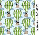 seamless vector pattern. funny... | Shutterstock .eps vector #766147552