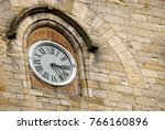 Old Clock In Frech Medieval...