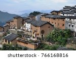 the yangchan tulou  the chinese ... | Shutterstock . vector #766168816