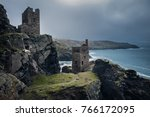 botallack mines in stormy...