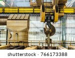 steel hook of overhead crane... | Shutterstock . vector #766173388
