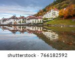 bergen  norway    october 2017  ... | Shutterstock . vector #766182592