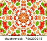 different vegetables and fruits ... | Shutterstock . vector #766200148