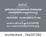 baikal handwritten calligraphic ... | Shutterstock .eps vector #766207282