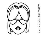 beautiful woman face witn hat... | Shutterstock .eps vector #766208278