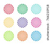 set of colorful peppermint...   Shutterstock .eps vector #766210918