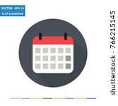 calendar flat icon with long... | Shutterstock .eps vector #766215145