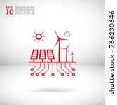 control eco energy info graphic ... | Shutterstock .eps vector #766230646