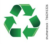 recycle icon vector | Shutterstock .eps vector #766241326