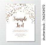 gold glitter border. copper... | Shutterstock .eps vector #766242472