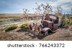 Abandoned Old Car In A Field Of ...