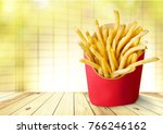 french fries  unhealthy eating. | Shutterstock . vector #766246162