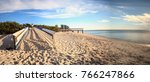 golden hour of sunset at clam... | Shutterstock . vector #766247866