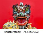 lion dance costume used during... | Shutterstock . vector #766250962
