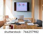 empty urban meeting room.... | Shutterstock . vector #766257982