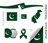 flag with elements pakistan | Shutterstock .eps vector #766265866