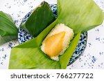 thai food desserts  sticky rice ... | Shutterstock . vector #766277722