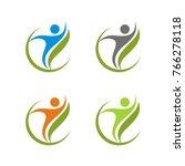 healthy  fun  optimist   happy  ... | Shutterstock .eps vector #766278118