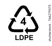 plastic recycle symbol ldpe 4... | Shutterstock .eps vector #766279375