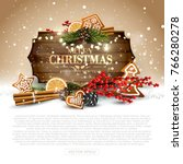 christmas background with...   Shutterstock .eps vector #766280278