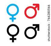 male and female symbol set logo | Shutterstock .eps vector #766280566