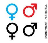 Male And Female Symbol Set Logo