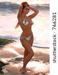 asian bikini model on aliso... | Shutterstock . vector #766281