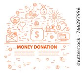 concept of charity and money... | Shutterstock . vector #766297996