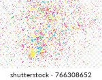 particle spray  dust and dots ... | Shutterstock .eps vector #766308652